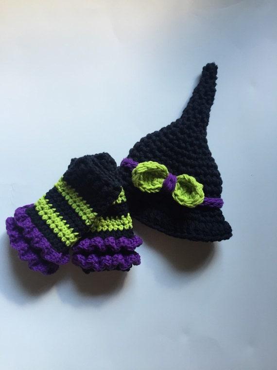 Neugeborenen-Halloween-Kostüm Hexenhut häkeln Hexenhut | Etsy
