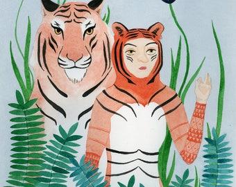 Paper Tigers - Giclée Print