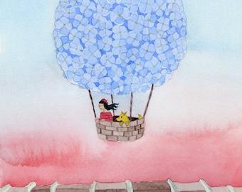 Hydrangea Balloon - Giclée Print