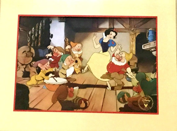 Walt DISNEY 1194 SNOW WHITE and The Seven Dwarfs Lithograph Commemorative!