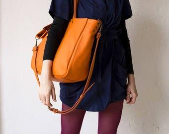 FOKS FORM Lea Bag 08 plus, Minimal leather tote bag, handbag, shoulder bag, everyday bag,