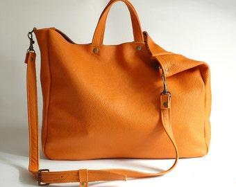 FOKS FORM Lea Bag 08, Minimal leather tote bag, handbag, shoulder bag
