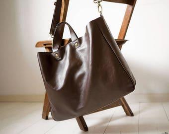SALE, FOKS FORM Lea Bag 07, Minimal leather tote bag, handbag, shoulder bag
