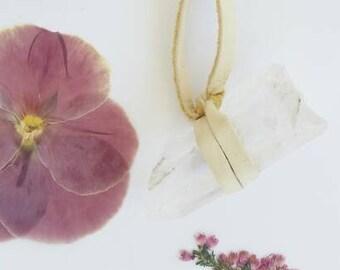 Quartz Crystal Leather Necklace