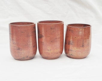 Handmade Pottery Tumbler | Ceramic Tumbler | Handmade Ceramic Tumbler | Ceramic Wine Cup | Copper Ceramic Tumbler