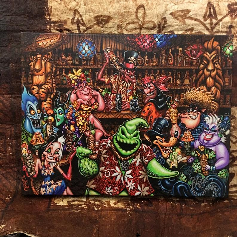 Trader Oogies Tiki Room Limited Edition Archvial Canvas Art Print