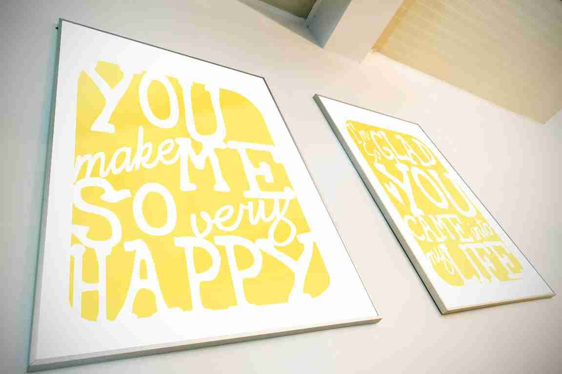 Typography Art Print - You Make Me So Very Happy v1 - love song ...