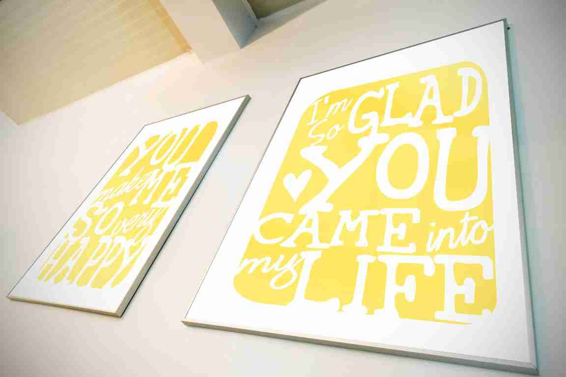 Typography Art Print - Im So Glad - love song lyrics wall art men ...