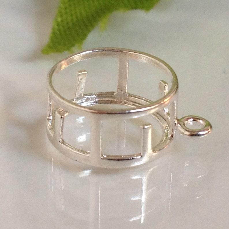#265310 Sterling Silver Round Shaped Back-Set Bezel Dangle 6, 6.5, 7 /& 8mm
