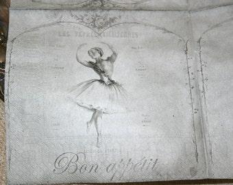 Jeanne d'Arc Living Ballerina Bon Appetit Napkin
