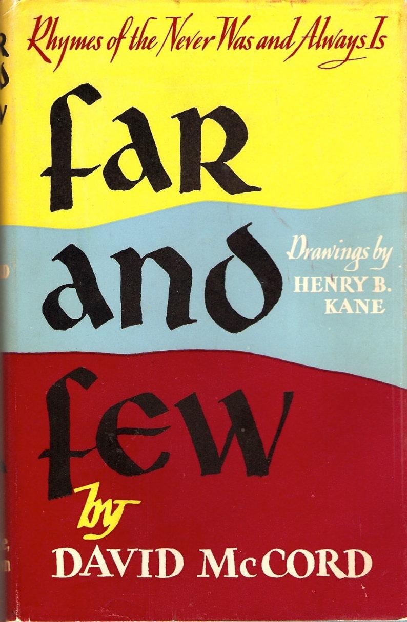 Far and Few David McCord 1953 HC Poems Illustrated Henry B. image 0
