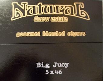 EMPTY Cigar Box for Crafting - Natural - Big Juicy - Black wooden box