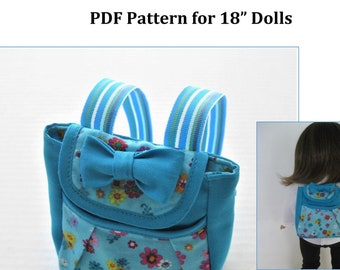 Backpack PDF Pattern #1001 for 18-Inch Doll/Fits American Girl