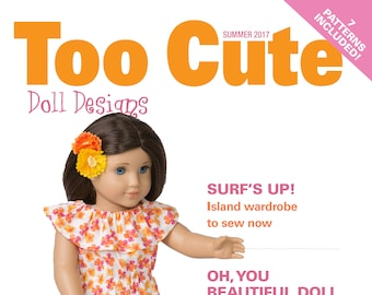 """Too Cute Doll Designs SUMMER 2017 - Sewing patterns for 18"""" dolls"""