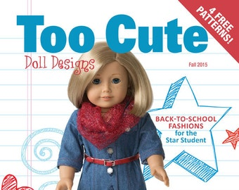 """Too Cute Doll Designs FALL 2015 - Sewing patterns for 18"""" dolls"""