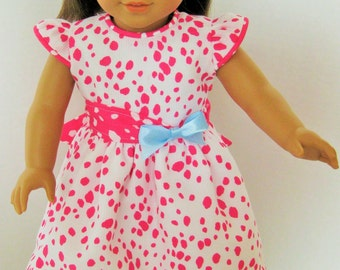 Pink and White Delight! Dress, Headband for 18 Inch Doll