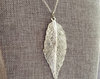 nature gift hikers pendant leaf pendant, tree jewelry stems and leaf pendant sterling silver outdoors jewelry