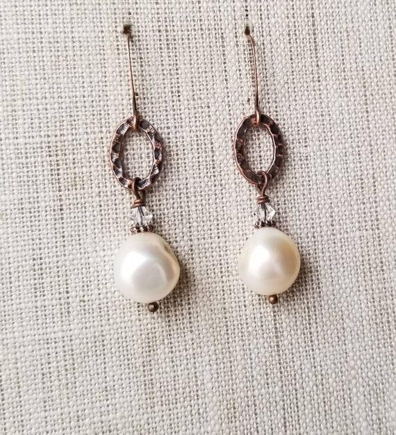 White Turquoise Long Boho Brass Earrings White Turquoise Brass Earrings Kidney by MagpieMadness for Etsy Leverback