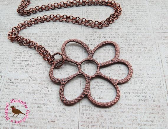 Copper Daisy Necklace