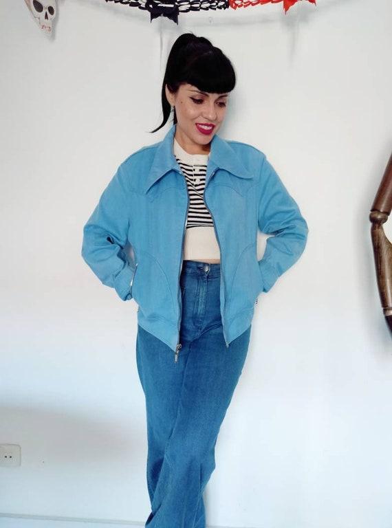 1960s-1970s Western Denim Jacket, Vintage Denim Ja
