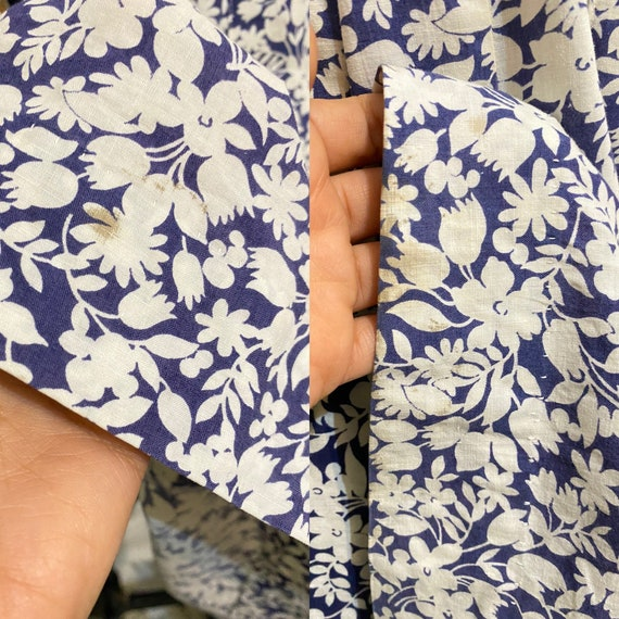 1930s Blue Floral Feedsack Dress, 30s Cotton Day … - image 9
