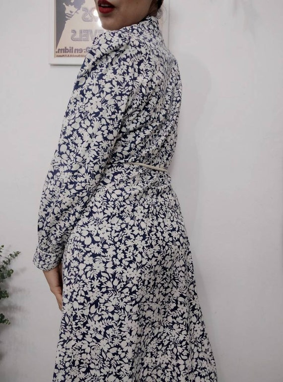 1930s Blue Floral Feedsack Dress, 30s Cotton Day … - image 5