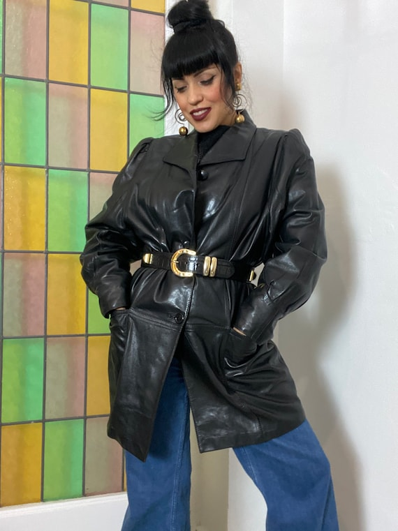 1980s Soft Leather Jacket, 90s Black leather Jacke