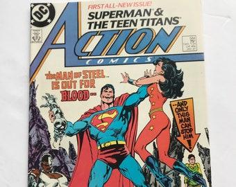 DC Comics Action Comics #588 May 1987 Hawkman NM