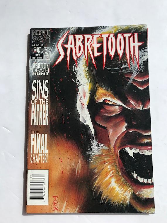 ONE SET Sabretooth Death Hunt 1-4 Complete Set 1 2 3 4 Marvel Comics