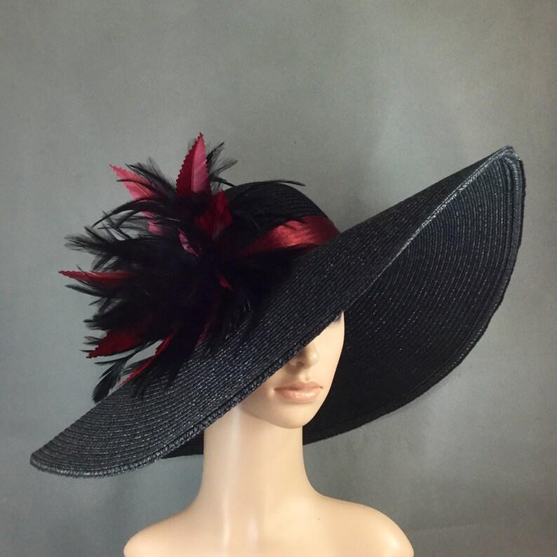 da7ff6b4e5c72 Burgundy   Black Kentucky Derby Hat Fascinator