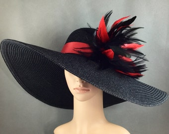 Black and Red Kentucky Derby Hat Fascinator