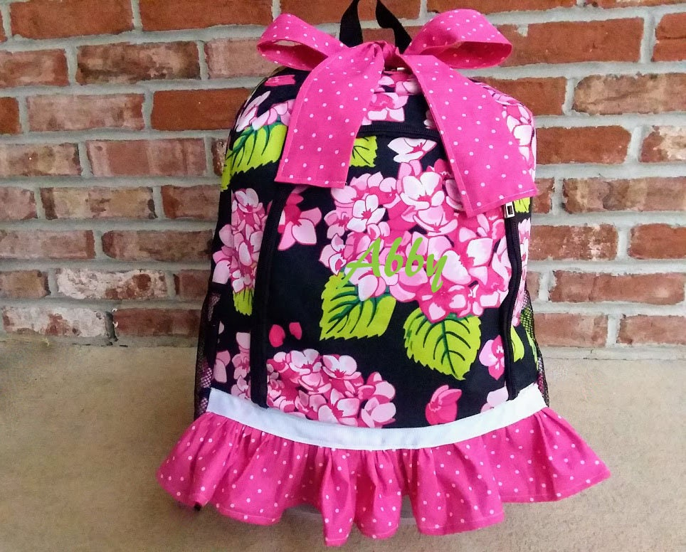 Girls Backpack, Backpack, Monogramed Backpack, School Supplies, Backpacks,  School Supplies, Personalized backpack, Monogrammed Backpack
