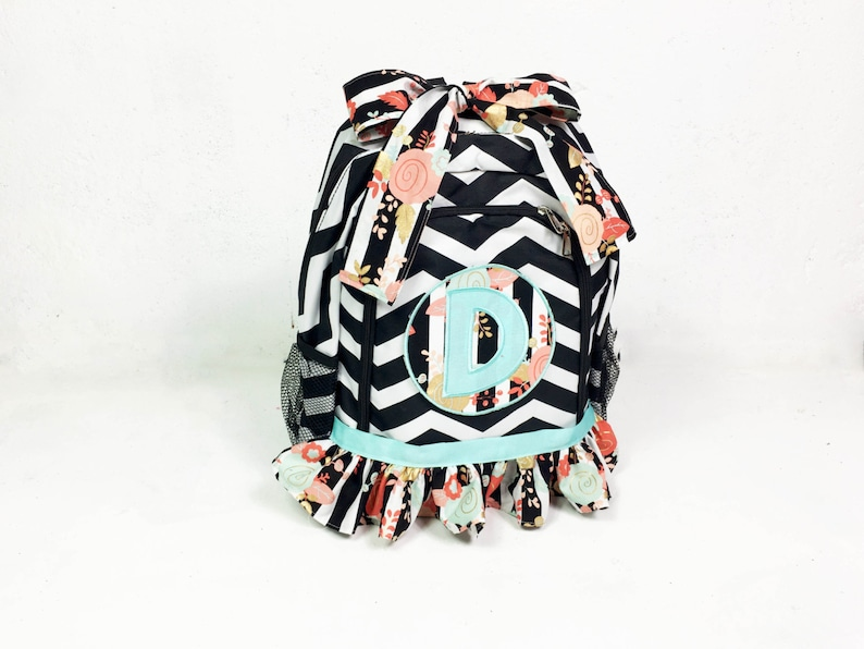 Girls Backpack Backpack Monogramed Backpack School image 0