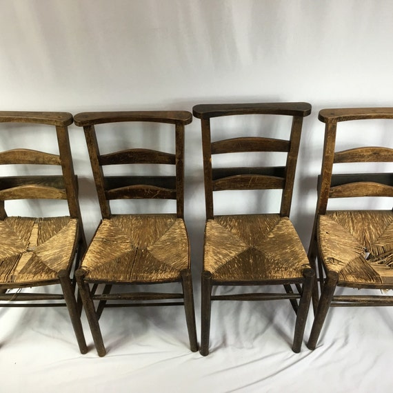 image 0 - Antique Primitive Shaker Church Chairs Set Of 4 Etsy