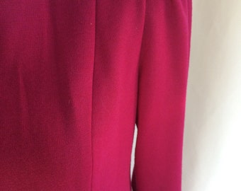 On Sale! 80's Vintage Saks 5th Ave Fuchsia Dress