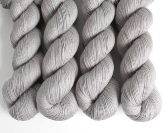 CALM GREY   Eco Lace 798yd  100g   Tencel Wool Cashmere Rayon  sustainable /Lyocell