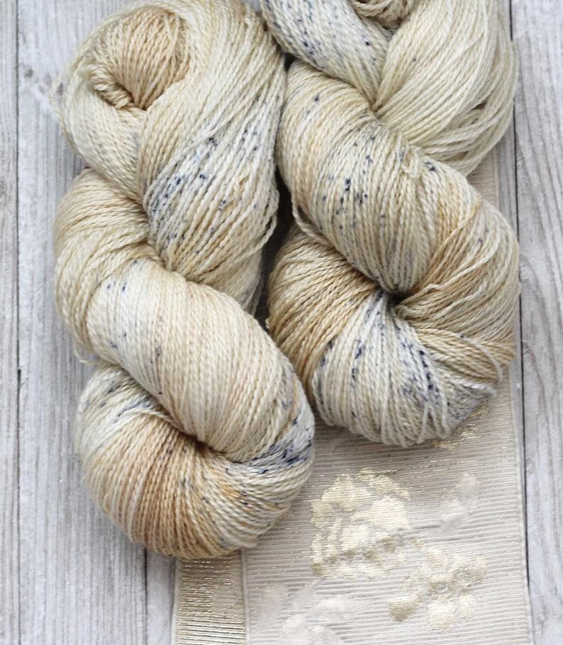 Hand Dyed yarn Charlotte Sock'Salt  Amber' brown image 0
