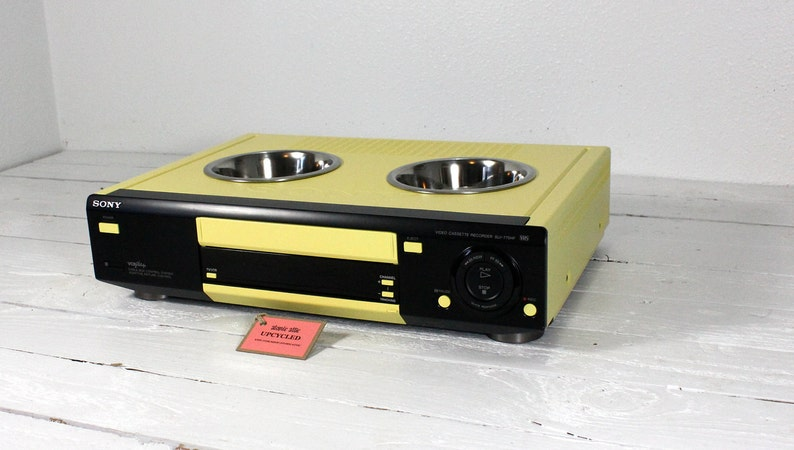 Upcycled VCR Pet Feeder image 0