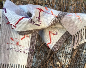 Handwoven scarf, woven scarf for all