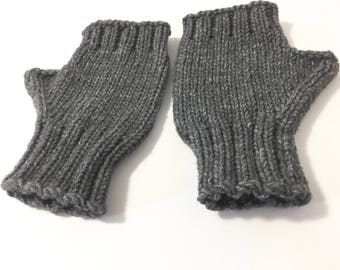 Fingerless mittens, computer and texto gloves for adult