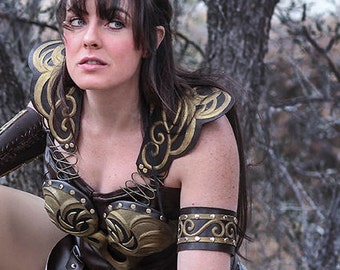 Xena Warrior Princess Costume Arm bands & Gauntlets ONLY