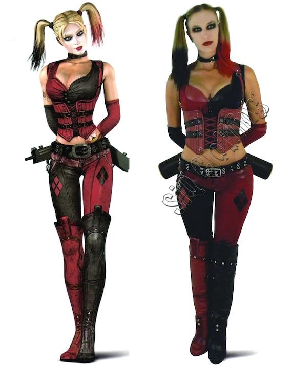 Harley Quinn Arkham City Costume | Etsy