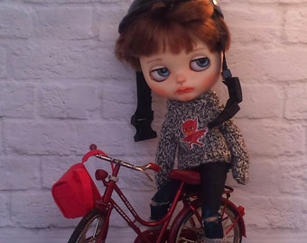 SALE!  Knitted sweater, skinny jeans and knitted leg warmers for Blythe Boy doll