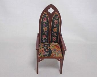 dolls house  mahogany oval stool  1.12th