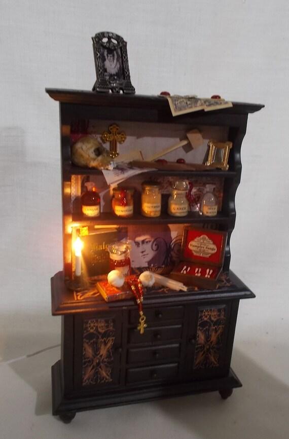 1//12 Scale Dollhouse Miniature legno Incorniciato MOBILI CUCINA CAMERA Kit di R