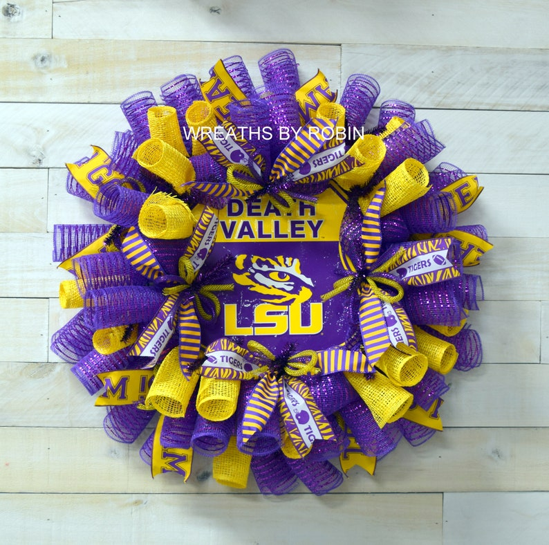 3624 LSU sport wreath college sports wreath LSU college wreath