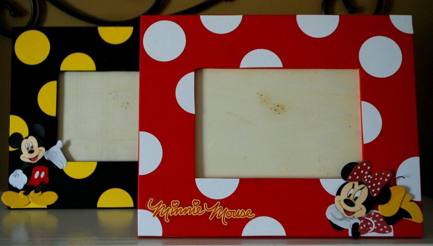Mickey Or Minnie Mouse Photo Frame Coordinates With Party Etsy