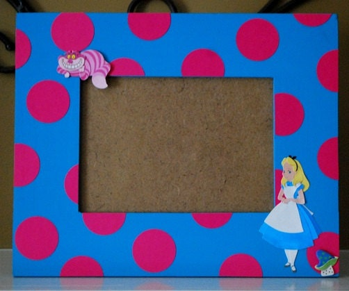 Alice In Wonderland Photo Frame Coordinates With Party Decor Etsy