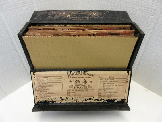 Vintage Linguaphone Spanish Course Made In England