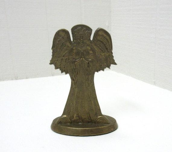 Vintage Jaimson Brass Angel Taper Candle Holder